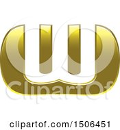 Clipart Of A Gold Letter W Design Royalty Free Vector Illustration by Lal Perera