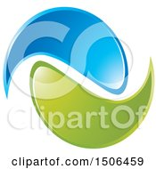 Clipart Of A Blue And Green Swoosh Icon Royalty Free Vector Illustration by Lal Perera