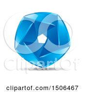 Clipart Of A Blue Aperture Icon Royalty Free Vector Illustration