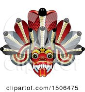 Clipart Of A Sri Lanka Maha Kola Devil Mask Royalty Free Vector Illustration by Lal Perera