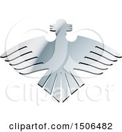 Clipart Of A Gradient Silver Eagle Royalty Free Vector Illustration by Lal Perera