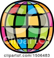 Clipart Of A Colorful Wire Globe Royalty Free Vector Illustration by Lal Perera