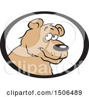 Clipart Of A Bear Face In An Oval Royalty Free Vector Illustration by Johnny Sajem