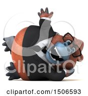 3d Business Orangutan Monkey Resting And Waving On A White Background