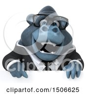 3d Business Gorilla Mascot On A White Background