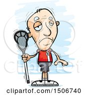 Clipart Of A Sad Senior White Male Lacrosse Player Royalty Free Vector Illustration by Cory Thoman