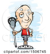 Clipart Of A Confident Senior White Male Lacrosse Player Royalty Free Vector Illustration by Cory Thoman