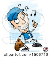 Poster, Art Print Of Happy Dancing Senior White Male Baseball Player