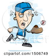 Clipart Of A Tired Senior White Male Baseball Player Royalty Free Vector Illustration by Cory Thoman