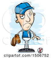 Clipart Of A Sad Senior White Male Baseball Player Royalty Free Vector Illustration by Cory Thoman