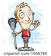 Clipart Of A Waving White Male Lacrosse Player Royalty Free Vector Illustration