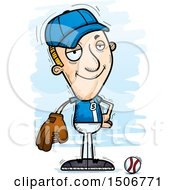 Clipart Of A Confident White Male Baseball Player Royalty Free Vector Illustration