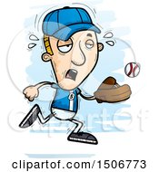 Clipart Of A Tired White Male Baseball Player Royalty Free Vector Illustration
