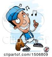 Poster, Art Print Of Happy Dancing Black Male Baseball Player