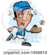 Poster, Art Print Of Tired Black Male Baseball Player
