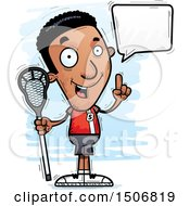 Clipart Of A Talking Black Male Lacrosse Player Royalty Free Vector Illustration