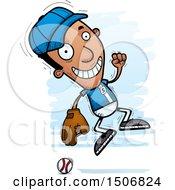 Poster, Art Print Of Jumping Black Male Baseball Player