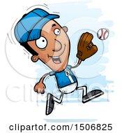 Poster, Art Print Of Running Black Male Baseball Player