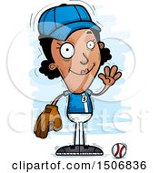 Clipart Of A Waving Female Baseball Player Royalty Free Vector Illustration by Cory Thoman