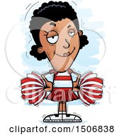 Clipart Of A Confident Black Female Cheeleader Royalty Free Vector Illustration