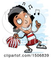 Clipart Of A Happy Dancing Black Female Cheeleader Royalty Free Vector Illustration