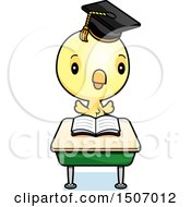 Poster, Art Print Of Graduate Student Chick Reading At A School Desk