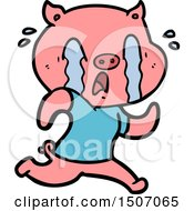 Crying Pig Cartoon