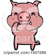 Angry Cartoon Pig