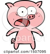 Cartoon Pig Shouting