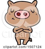 Cartoon Content Pig
