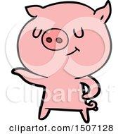Happy Cartoon Pig