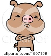 Cartoon Grumpy Pig