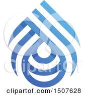 Clipart Of A Blue And White Water Drop Design Royalty Free Vector Illustration by elena