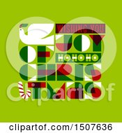 Clipart Of A Dove With Wishing You Joyof Christmasmas Text On Green Royalty Free Vector Illustration by elena