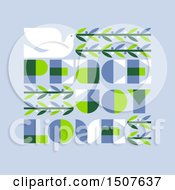 Clipart Of A Dove With Peace Joy Love Text On Blue Royalty Free Vector Illustration by elena