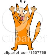 Cartoon Panicking Cat