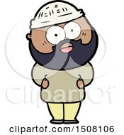 Cartoon Surprised Bearded Man