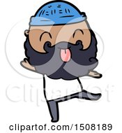 Dancing Man With Beard Sticking Out Tongue