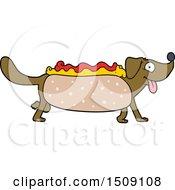 Poster, Art Print Of Cartoon Hotdog