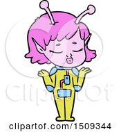 Poster, Art Print Of Cartoon Alien Girl