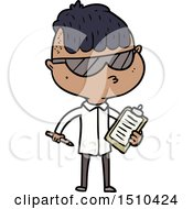 Cartoon Boy Wearing Sunglasses