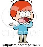 Cartoon Shocked Man Gasping
