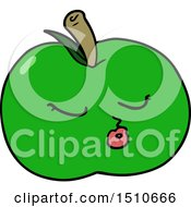 Poster, Art Print Of Cartoon Apple