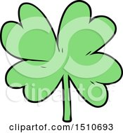 Cartoon Four Leaf Clover