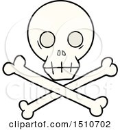 Poster, Art Print Of Cartoon Skull And Crossbones
