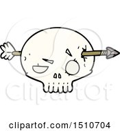 Cartoon Skull With Arrow