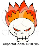 Cartoon Flaming Skull