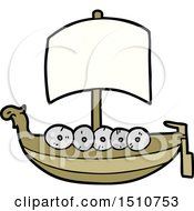 Cartoon Viking Boat by lineartestpilot