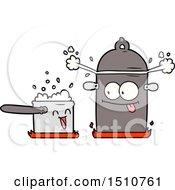 Bubbling Pans Cartoon