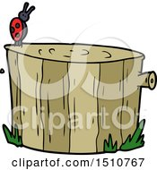 Cartoon Tree Stump by lineartestpilot